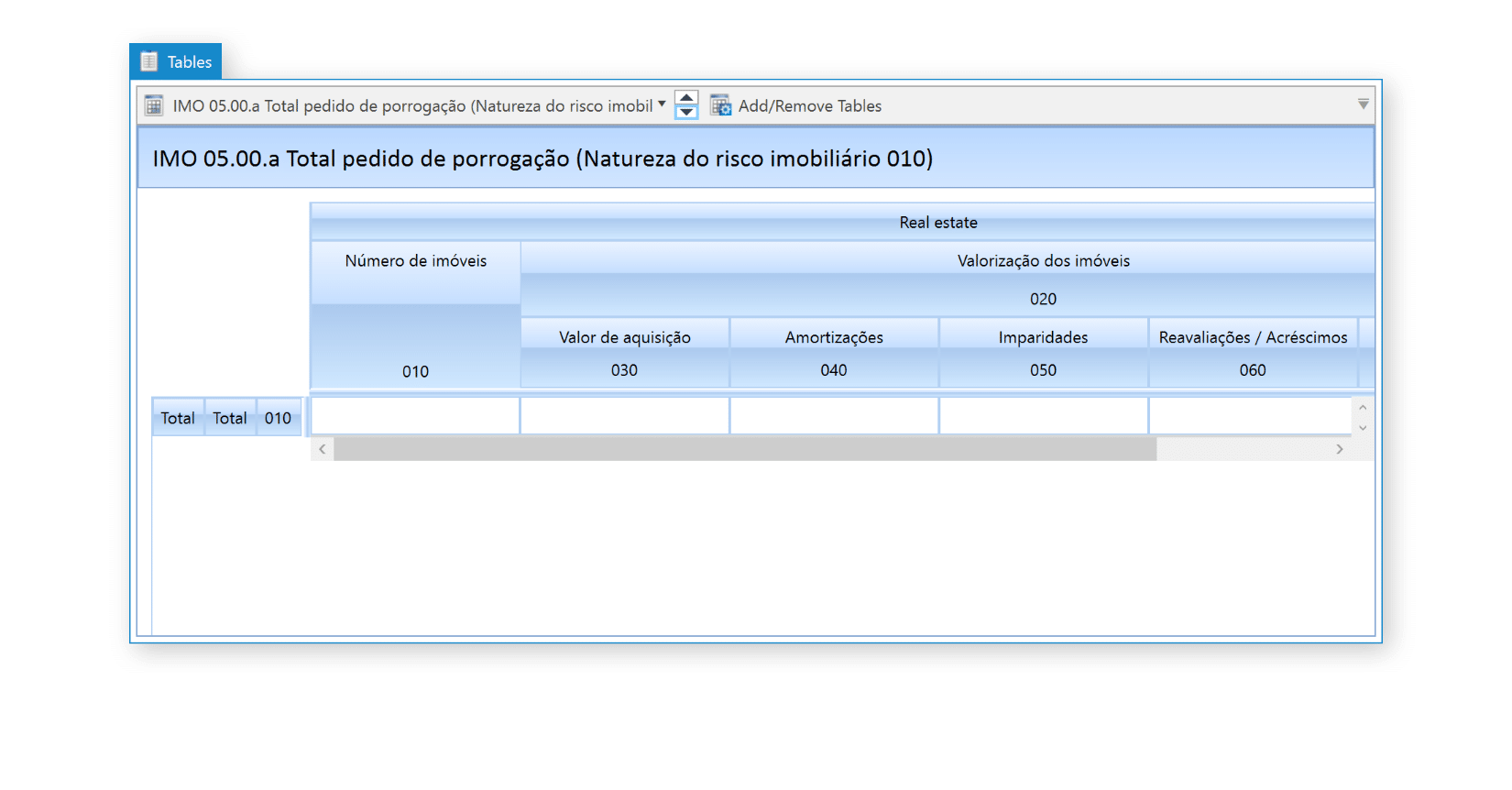 Banco de Portugal RE Taxonomy Rendered in DPM Authority